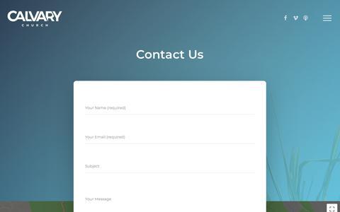 Screenshot of Contact Page calvarypalisades.org - Contact – Calvary Church - captured Sept. 26, 2018