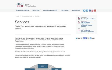 Screenshot of Services Page compositesw.com - Cisco | Services - captured Oct. 10, 2014