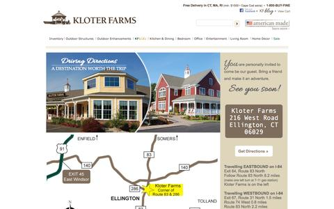 Screenshot of Maps & Directions Page kloterfarms.com - Get Driving Directions & Maps - Kloter Farms - captured Sept. 30, 2014