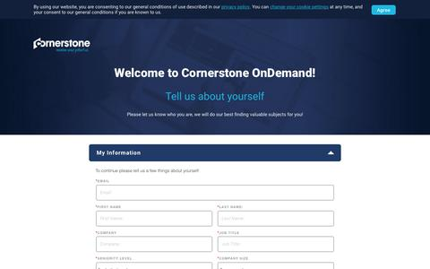 Screenshot of Landing Page cornerstoneondemand.com - Cornerstone OnDemand - Preference Center - captured Sept. 19, 2018