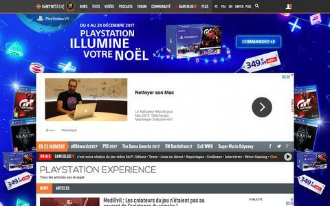 Screenshot of gameblog.fr - PlayStation Experience - Tests, news, dossiers - Gameblog.fr - captured Dec. 17, 2017