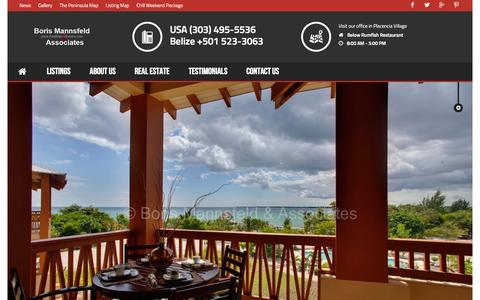 Screenshot of Team Page realestateplacencia.com - Our Team - Placencia Belize Real Estate - captured Oct. 27, 2014