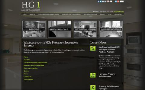 Screenshot of Site Map Page hg1.co.uk - Sitemap - HG1 Property Solutions - captured Oct. 1, 2014