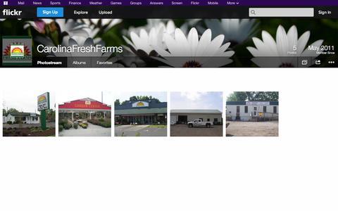 Screenshot of Flickr Page flickr.com - Flickr: CarolinaFreshFarms' Photostream - captured Oct. 22, 2014