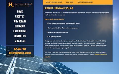 About Hannah Solar - Hannah Solar