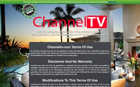Screenshot of Terms Page channeltv.com - Channeltv.com - Terms of Use - captured Dec. 8, 2015