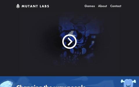 Screenshot of Home Page mutantlabs.com - Mutant Labs - captured Oct. 9, 2014