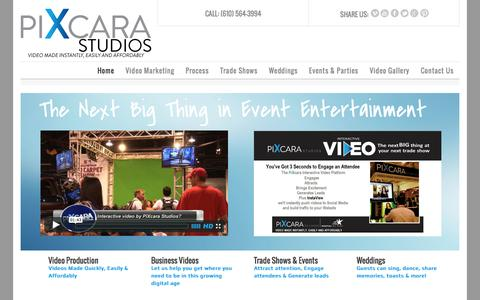 Screenshot of Home Page pixcarastudios.com - Studios & Event Home Page - captured Oct. 6, 2014