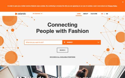 Screenshot of Jobs Page zalando.de - Zalando | Jobs - captured July 3, 2016