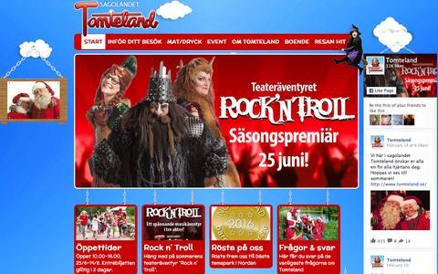 Screenshot of Home Page tomteland.se - Välkommen till Tomteland - captured March 11, 2016