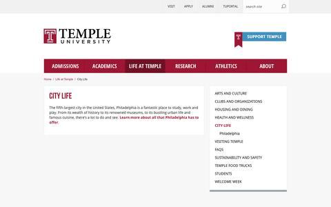 City Life | Temple University