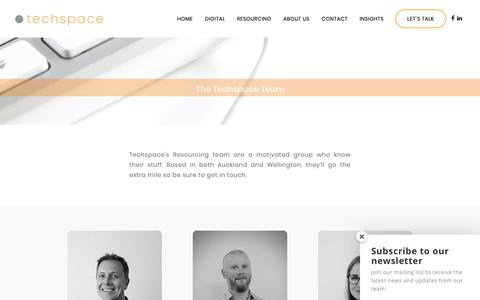 Screenshot of Team Page techspace.co.nz - The Team | Resourcing Consultants New Zealand | Techspace - captured Nov. 19, 2018
