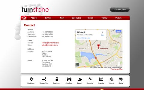 Screenshot of Contact Page turnstone.co.nz - Turnstone - Contact - captured Oct. 7, 2014
