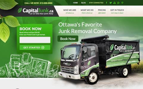 Screenshot of Home Page capitaljunk.ca - Junk Removal Ottawa   Capital Junk - captured Jan. 17, 2015