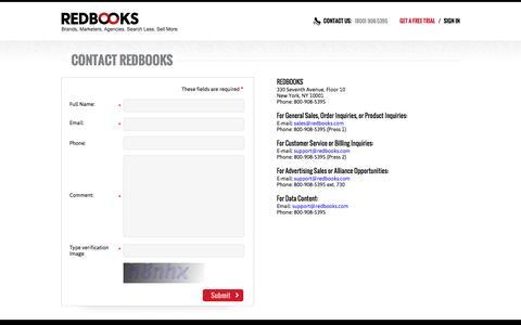 REDBOOKS - Contact Us