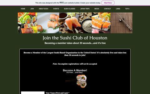 Screenshot of Signup Page houston-sushi.com - scoh2018website | JOIN - captured Oct. 18, 2018