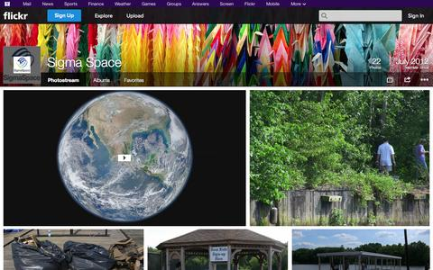 Screenshot of Flickr Page flickr.com - Flickr: Sigma Space's Photostream - captured Oct. 26, 2014