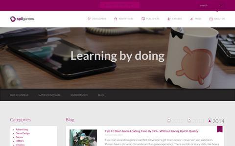 Screenshot of Blog spilgames.com - Blog - Spil Games - captured Sept. 11, 2014