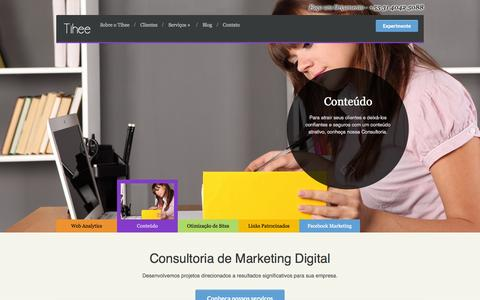 Screenshot of Home Page tihee.com.br - Tihee — Consultoria em Marketing Digital - captured Sept. 30, 2014