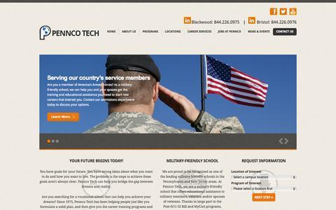 Screenshot of Home Page penncotech.edu - Technical School in New Jersey & Pennsylvania-Pennco Tech - captured July 19, 2015