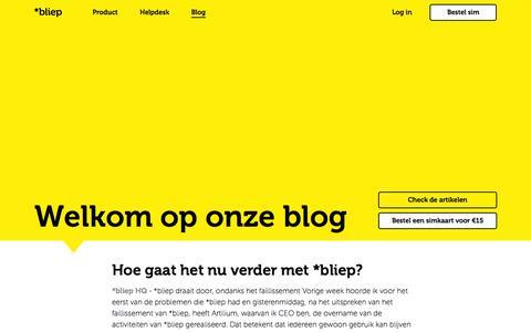 Screenshot of Blog bliep.nl - Blog - *bliep - captured Nov. 23, 2015