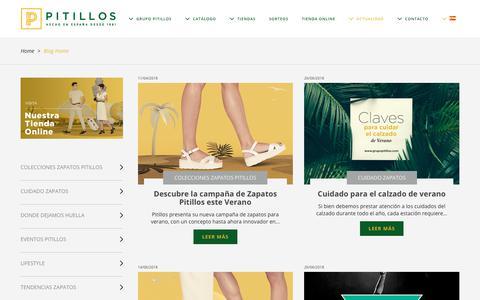 Screenshot of Blog grupopitillos.com - ¿Cómo afecta el uso de los zapatos de tacón a nuestra salud? | Zapatos Pitillos - captured Sept. 26, 2018
