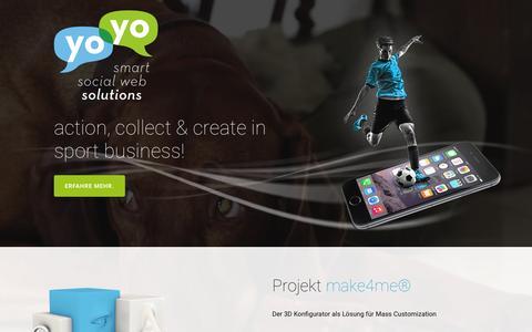 Screenshot of Home Page yoyo.ag - yoyo-AG - captured Sept. 2, 2015