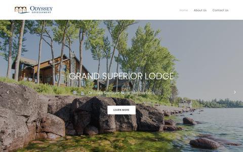 Screenshot of Home Page odysseydev.com - Odyssey Development - captured Oct. 19, 2017