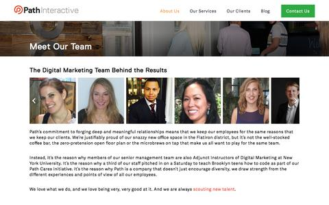 Screenshot of Team Page pathinteractive.com - Our Agency's Digital Marketing Team | Path Interactive - captured May 12, 2017