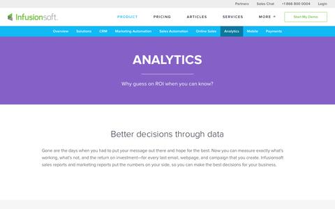 Sales & Marketing Software Analytics | Infusionsoft