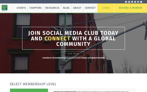 Screenshot of Signup Page socialmediaclub.org - Membership - Social Media Club - captured Jan. 11, 2016