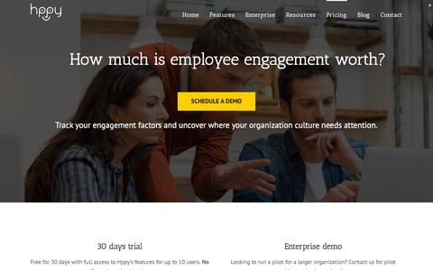 Screenshot of Pricing Page gethppy.com - Pricing   Hppy   Employee Engagement Software - captured Jan. 17, 2016