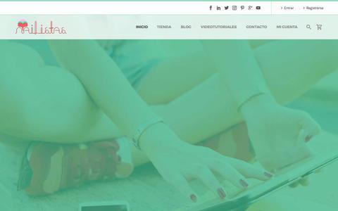 Screenshot of Home Page nailistas.com - Home - Nailistas | Uñas decoradas paso a paso - captured Nov. 2, 2017