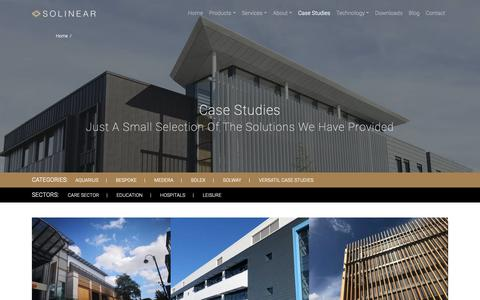 Screenshot of Case Studies Page solinear.co.uk - Case Studies Archive - Solinear - captured Oct. 20, 2018