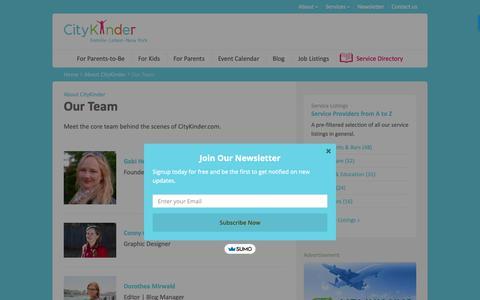 Screenshot of Team Page citykinder.com - Our Team   Meet the CityKinder Team Members    CityKinder - captured Sept. 28, 2018