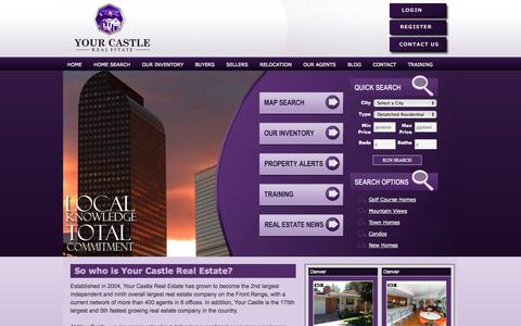 Screenshot of Home Page yourcastle.org - Your Castle Real Estate Inc. | Denver Property Search - captured Oct. 9, 2014