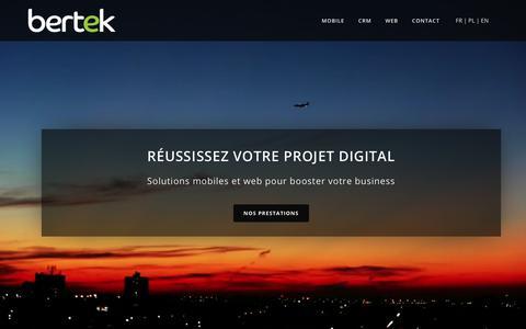 Screenshot of Home Page bertek.fr - Bertek | Boostez votre business - captured Oct. 9, 2017