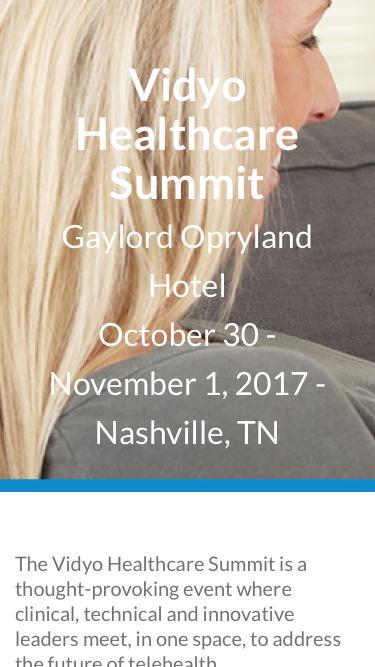 Vidyo Healthcare Summit