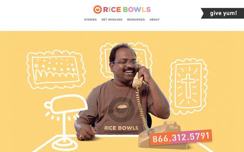 Screenshot of Contact Page ricebowls.org - Contact — Rice Bowls - captured Oct. 20, 2018