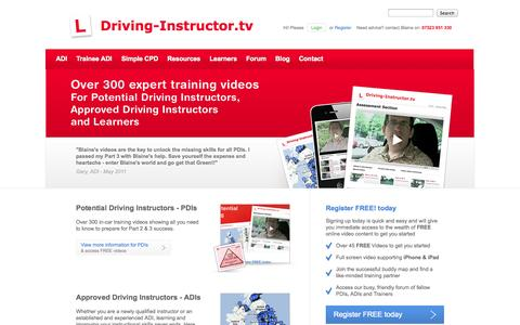 Screenshot of Home Page driving-instructor.tv - Support for driving instructors and become a instructor - captured Sept. 23, 2014
