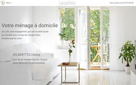 Screenshot of Home Page Menu Page leovida.com - Leovida - Ménage à domicile sur Lille et sa métropole - captured May 17, 2017