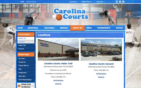 Screenshot of Locations Page carolinacourts.com - Locations - captured Sept. 27, 2014