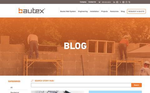 Screenshot of Blog bautexsystems.com - Blog - Bautex Systems - captured Oct. 5, 2018