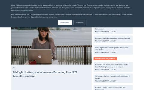Screenshot of Blog hubspot.de - HubSpot Marketing-Blog - captured Nov. 9, 2018