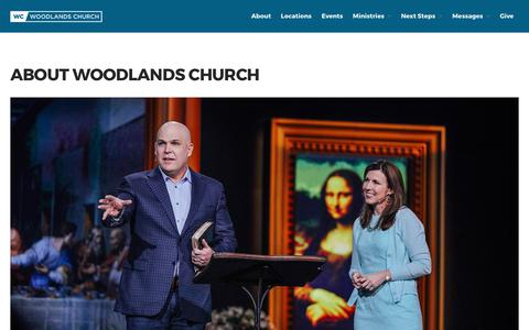 Screenshot of About Page wc.org - About Woodlands Church - Woodlands Church - captured July 13, 2017