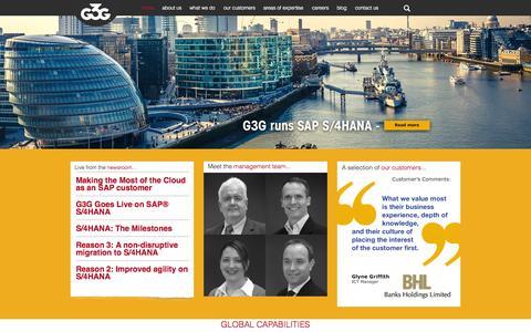 Screenshot of Home Page g3g.com - G3G - captured July 16, 2015
