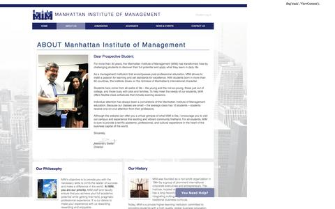 Screenshot of About Page mimusa.edu - About Us | Manhattan Institute of Management - captured Nov. 19, 2016