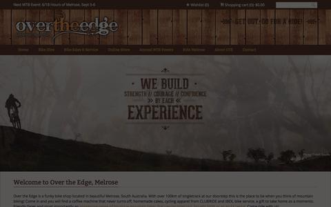 Screenshot of Home Page otesports.com.au - Home | Over the Edge Sports, MelroseOver the Edge, Melrose - captured Oct. 6, 2014