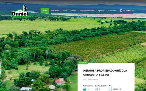 Screenshot of Home Page danielbienesraices.com - Daniel Bienes Raices – Inmobiliaria - captured June 15, 2019