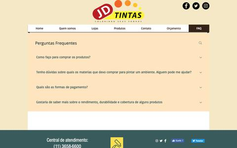 Screenshot of FAQ Page tintasjd.com.br - tintasjd | FAQ - captured Oct. 19, 2018
